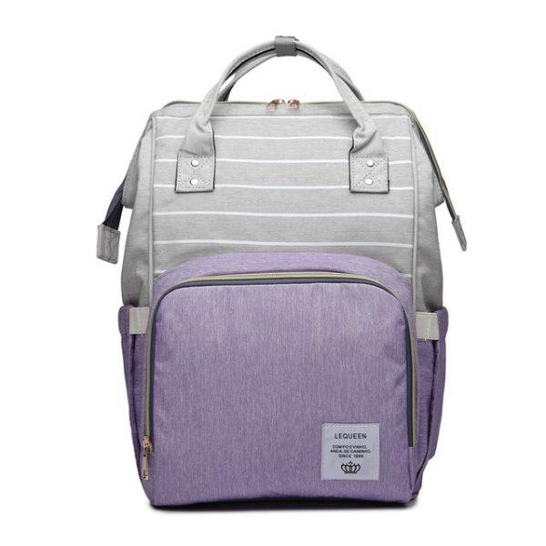 Серо-фиолетовый рюкзак