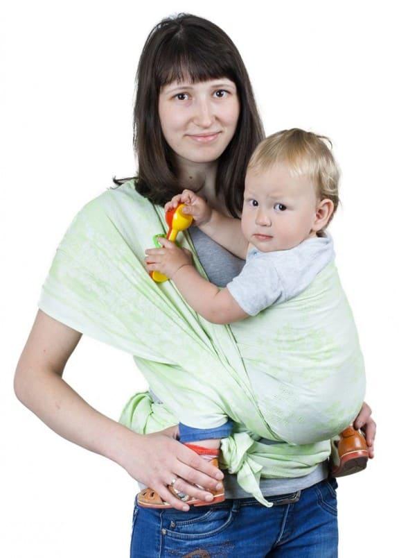 sling-sharf gerba zeleniy