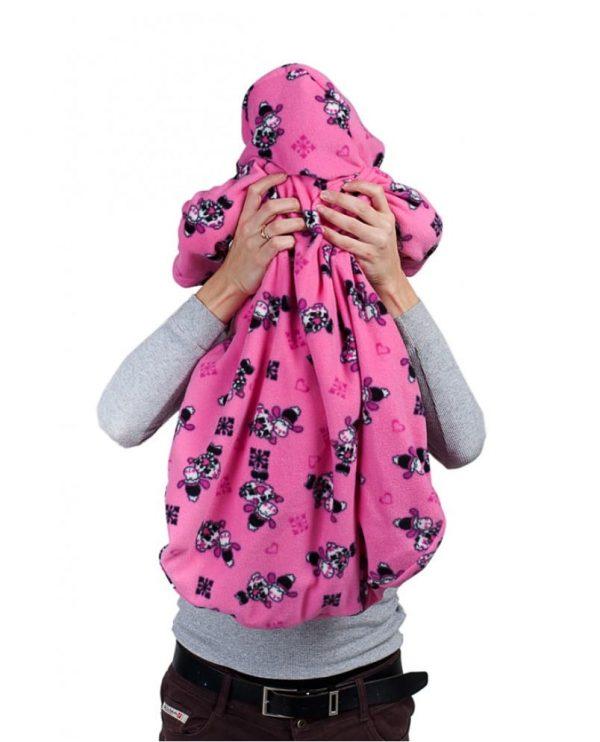 konvert s rukavami rozoviy/zverushki 4