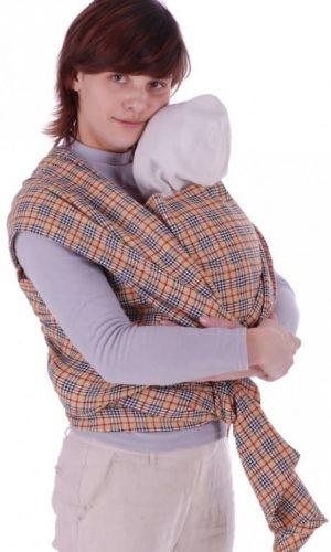 sling-sharf bezhevaya kletka