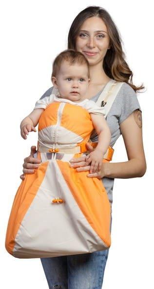 rukzak-kenguru BabyActive bezhevo-oranzheviy Lux